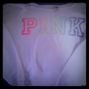 Pink pride off shoulder crop sz XL and leggings m